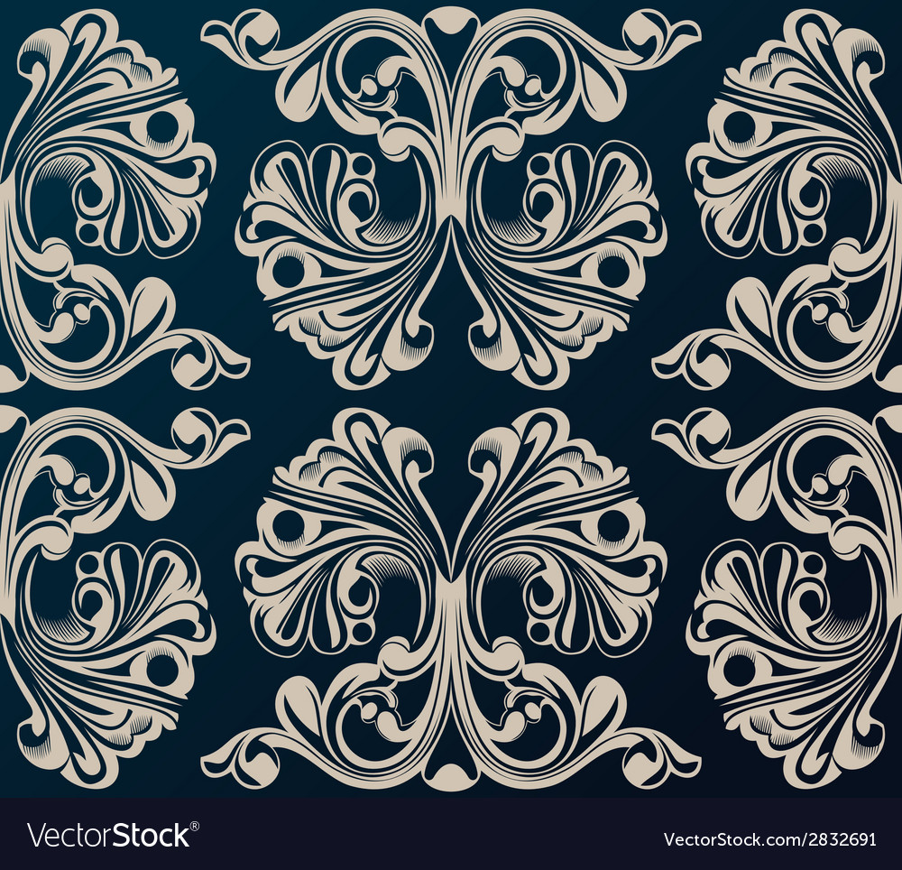 Seamless background medieval ornament vector | Price: 1 Credit (USD $1)