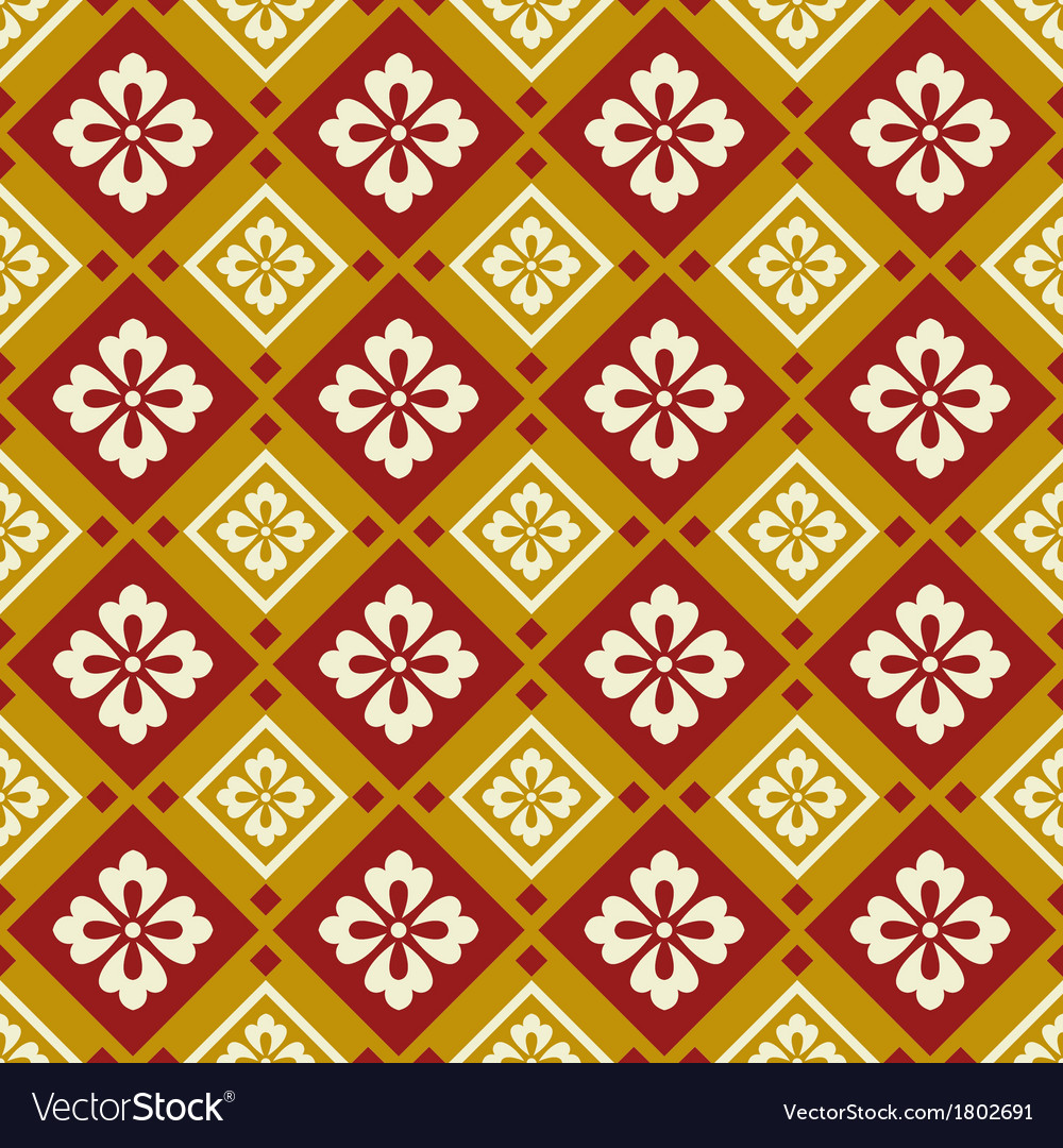 Seamless chinese style fabric pattern vector | Price: 1 Credit (USD $1)