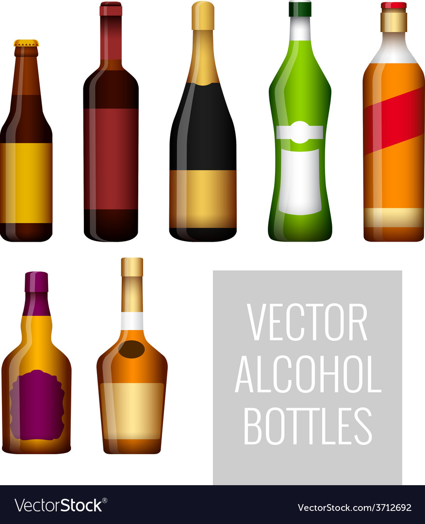 Bottles of alcohol vector | Price: 3 Credit (USD $3)