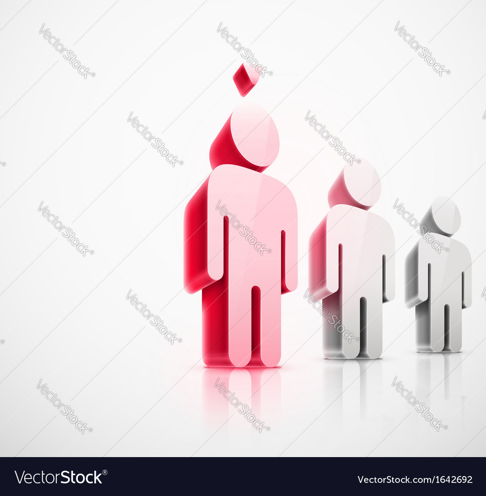 Choice of person vector | Price: 1 Credit (USD $1)