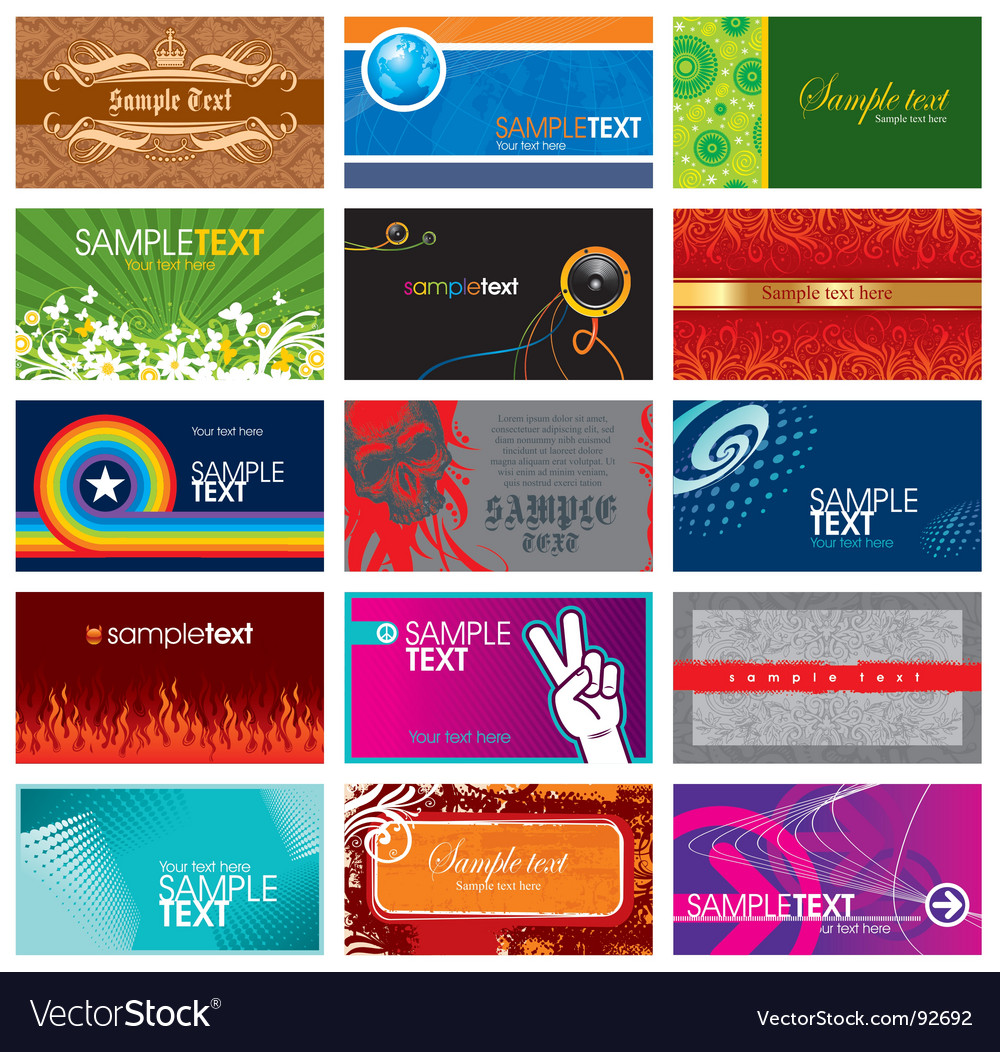 Collection of horizontal business card vector   Price: 1 Credit (USD $1)