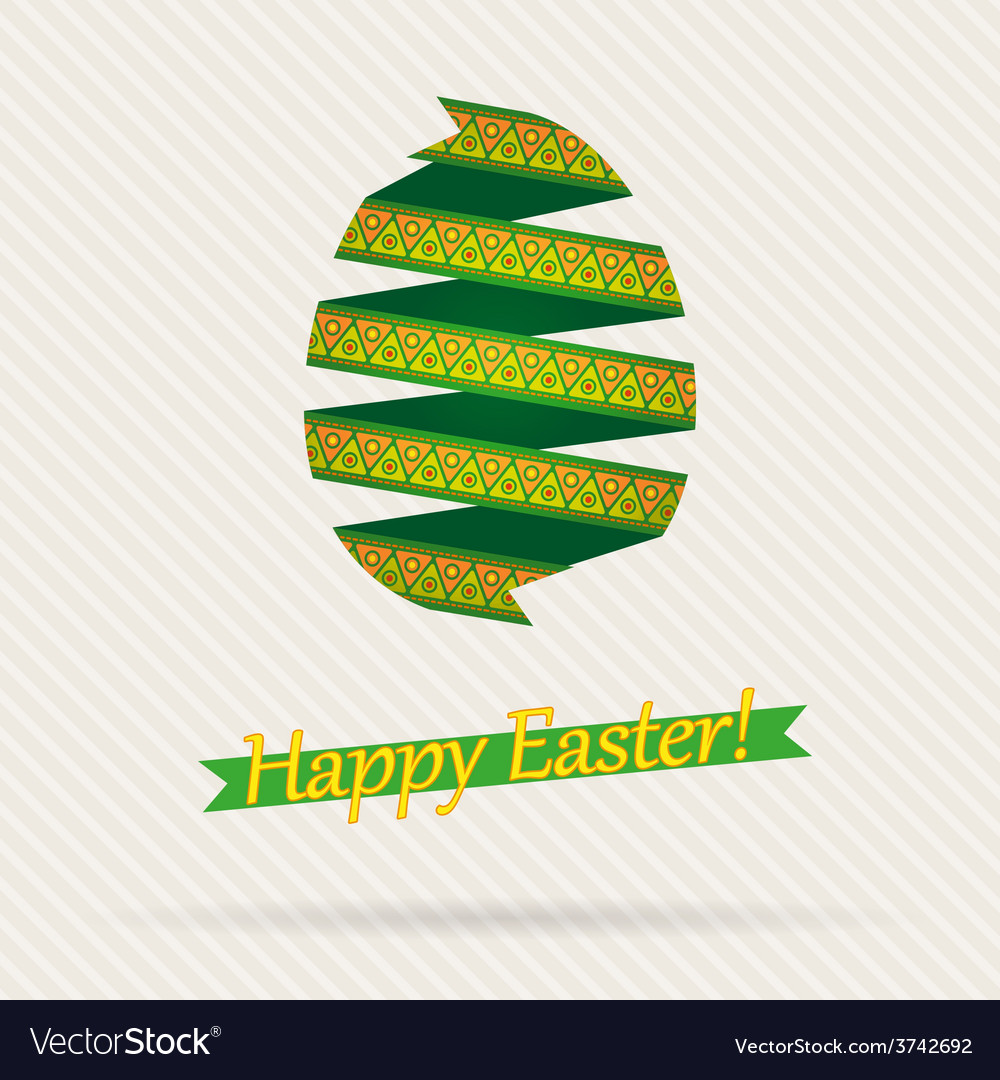 Easter egg from ribbons vector | Price: 1 Credit (USD $1)