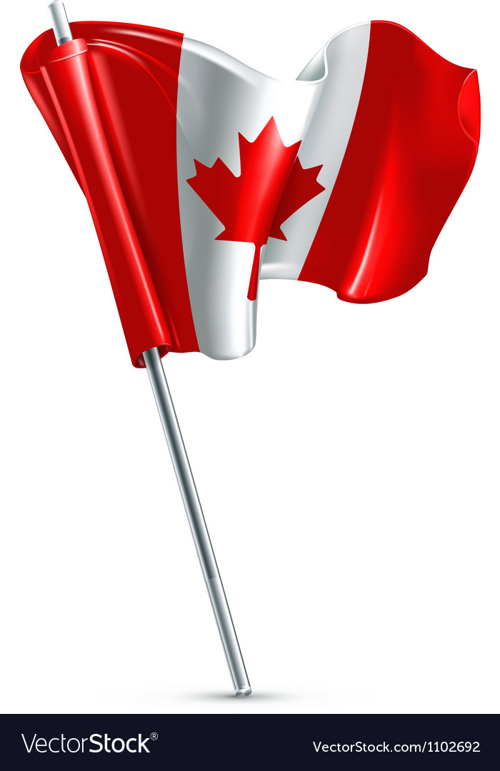 Flag of canada vector | Price: 1 Credit (USD $1)