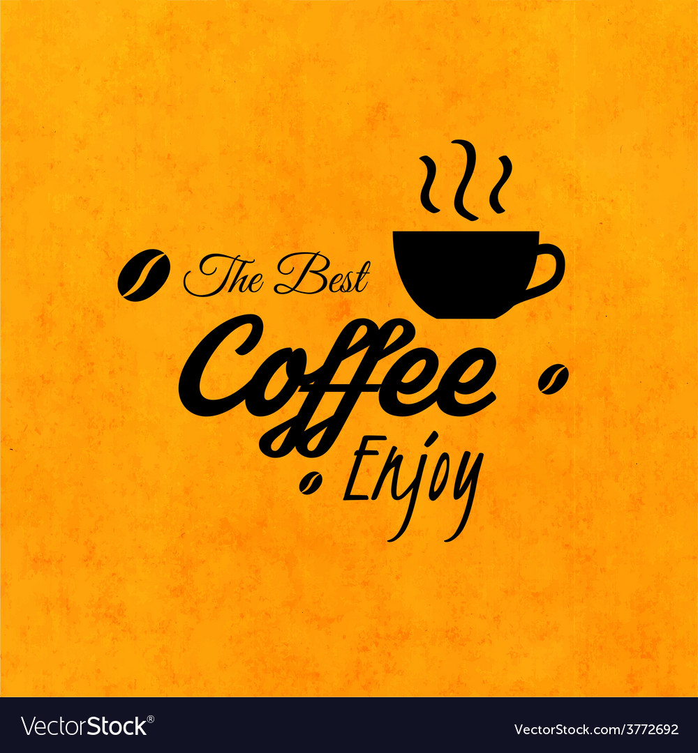 Menu for restaurant the best coffee enjoy use vector | Price: 1 Credit (USD $1)