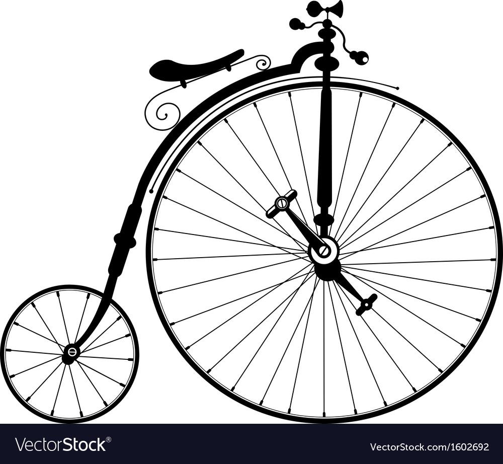 Old black bicycle vector | Price: 1 Credit (USD $1)