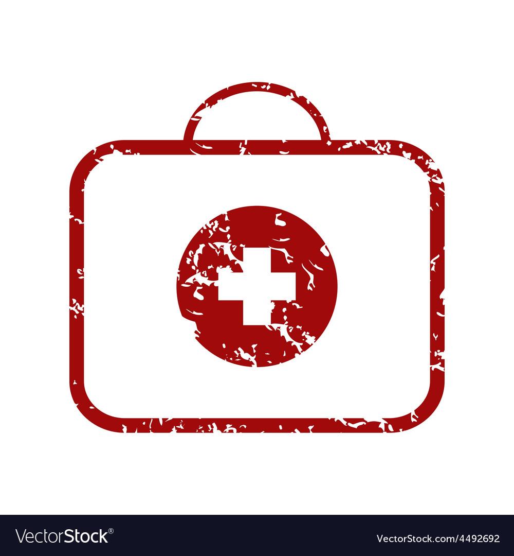 Red grunge doctor bag logo vector | Price: 1 Credit (USD $1)