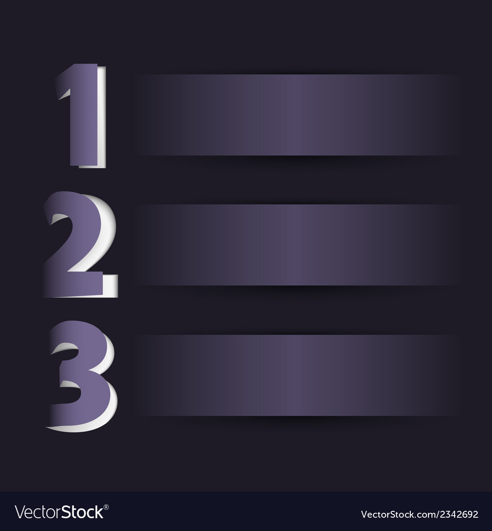 Three steps on dark background vector | Price: 1 Credit (USD $1)