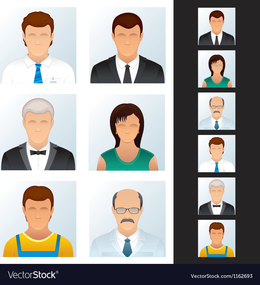 Avatar people icons vector | Price: 3 Credit (USD $3)