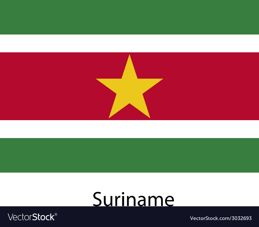 Flag of the country suriname vector | Price: 1 Credit (USD $1)
