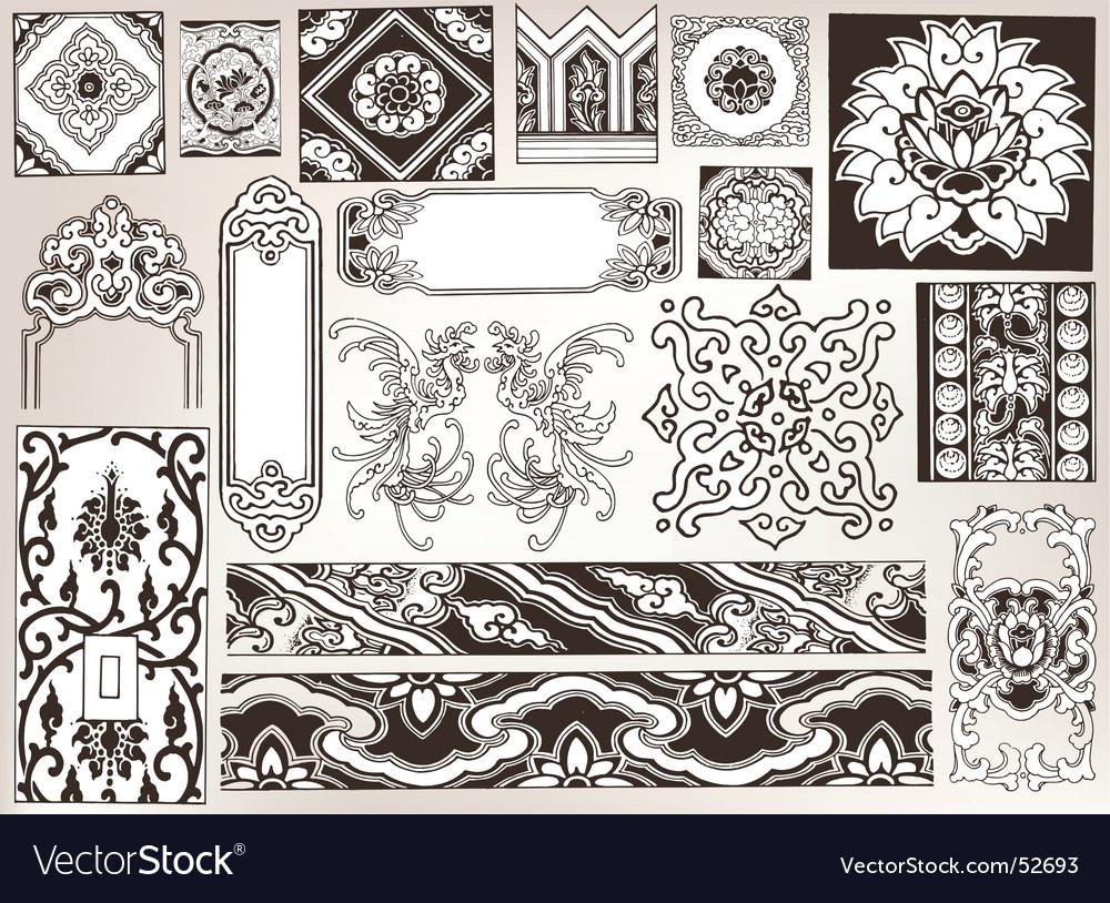 Floral vintage vector | Price: 1 Credit (USD $1)