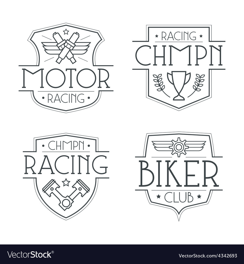 Racing badges for t shirt vector | Price: 1 Credit (USD $1)