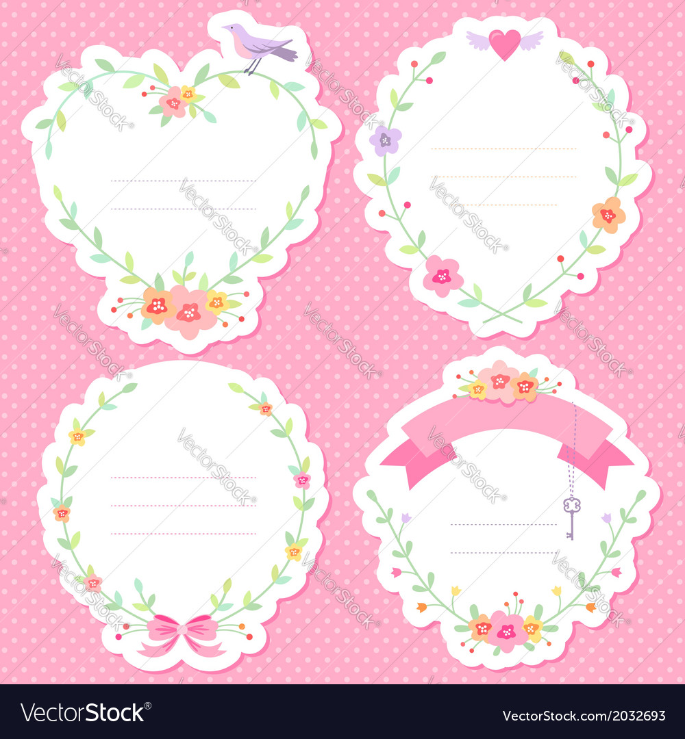 Romantic frames scrap vector | Price: 1 Credit (USD $1)