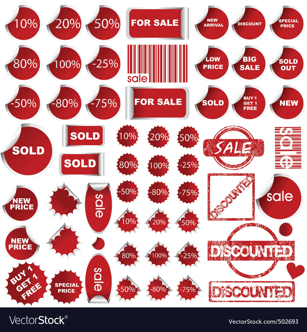 Shopping promotional elements vector | Price: 1 Credit (USD $1)