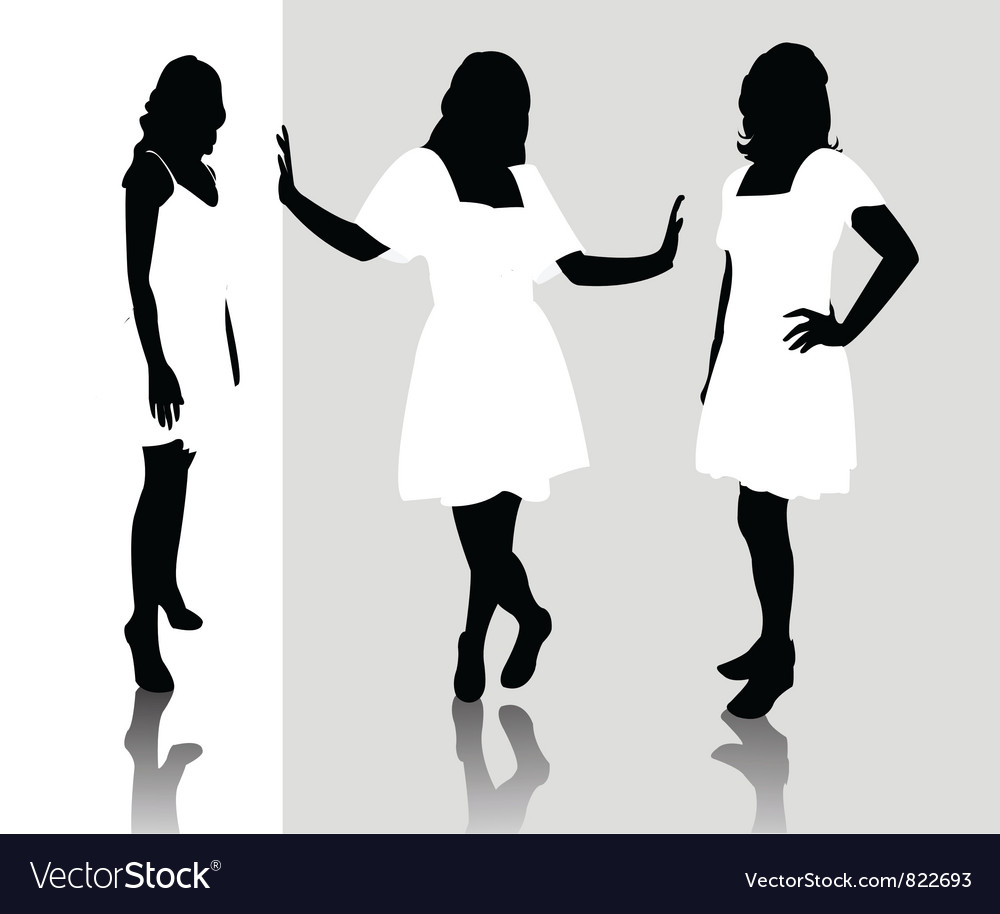 Silhouette fashion girls vector | Price: 1 Credit (USD $1)