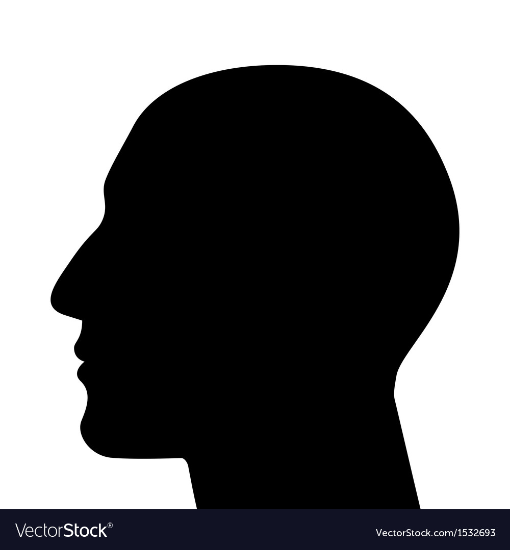 Silhouette of a head vector | Price: 1 Credit (USD $1)