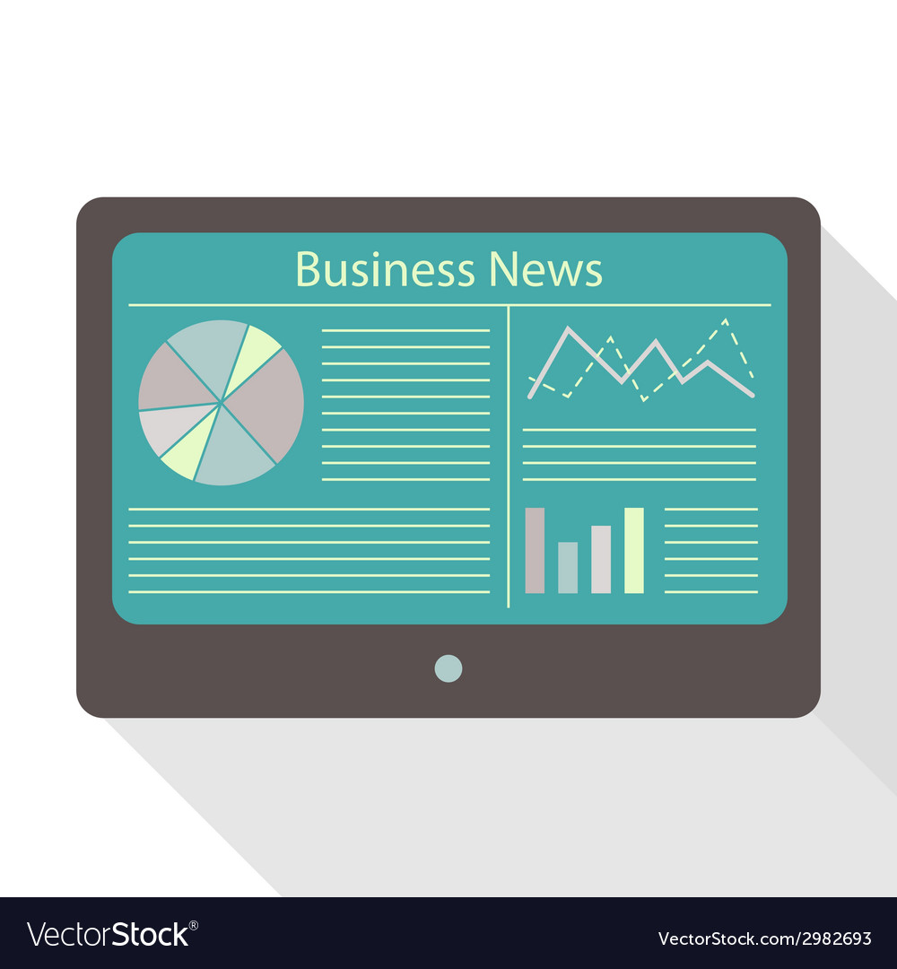 Tablet business news vector | Price: 1 Credit (USD $1)