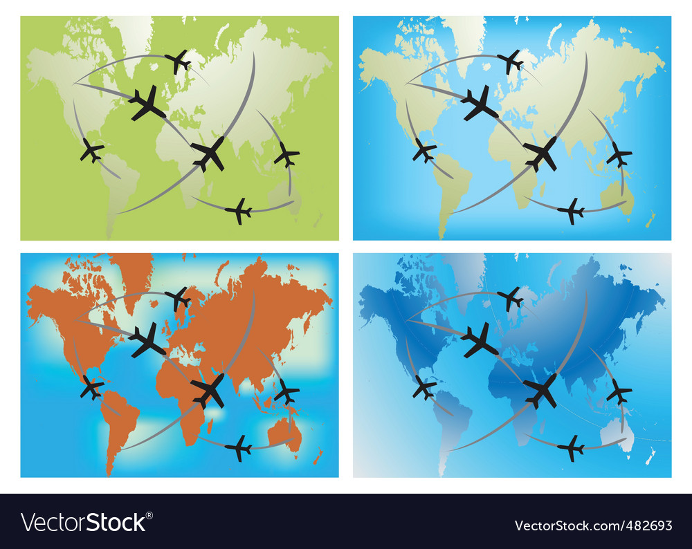 World airline routes vector | Price: 1 Credit (USD $1)