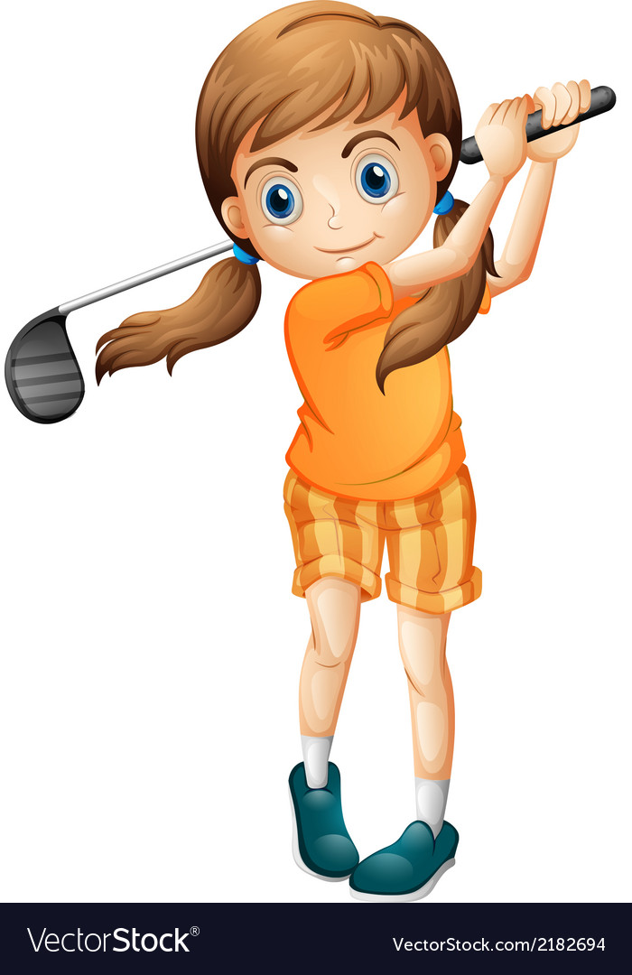 A young golf player vector | Price: 1 Credit (USD $1)