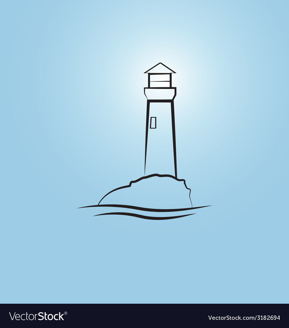 Abstract lighthouse vector | Price: 1 Credit (USD $1)