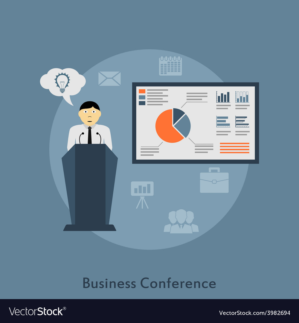 Business conference vector | Price: 1 Credit (USD $1)