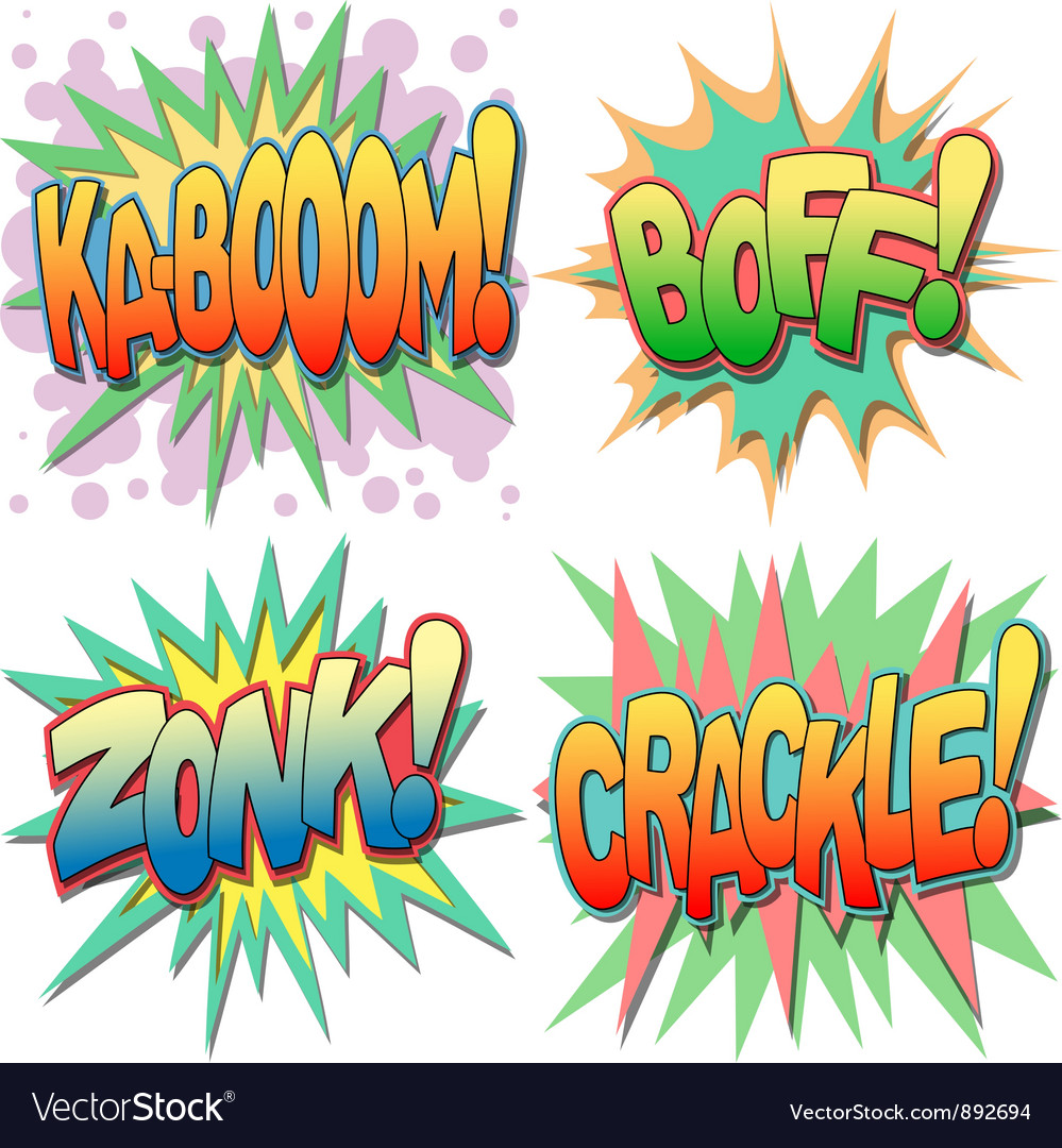 Comic book exclamations vector | Price: 1 Credit (USD $1)