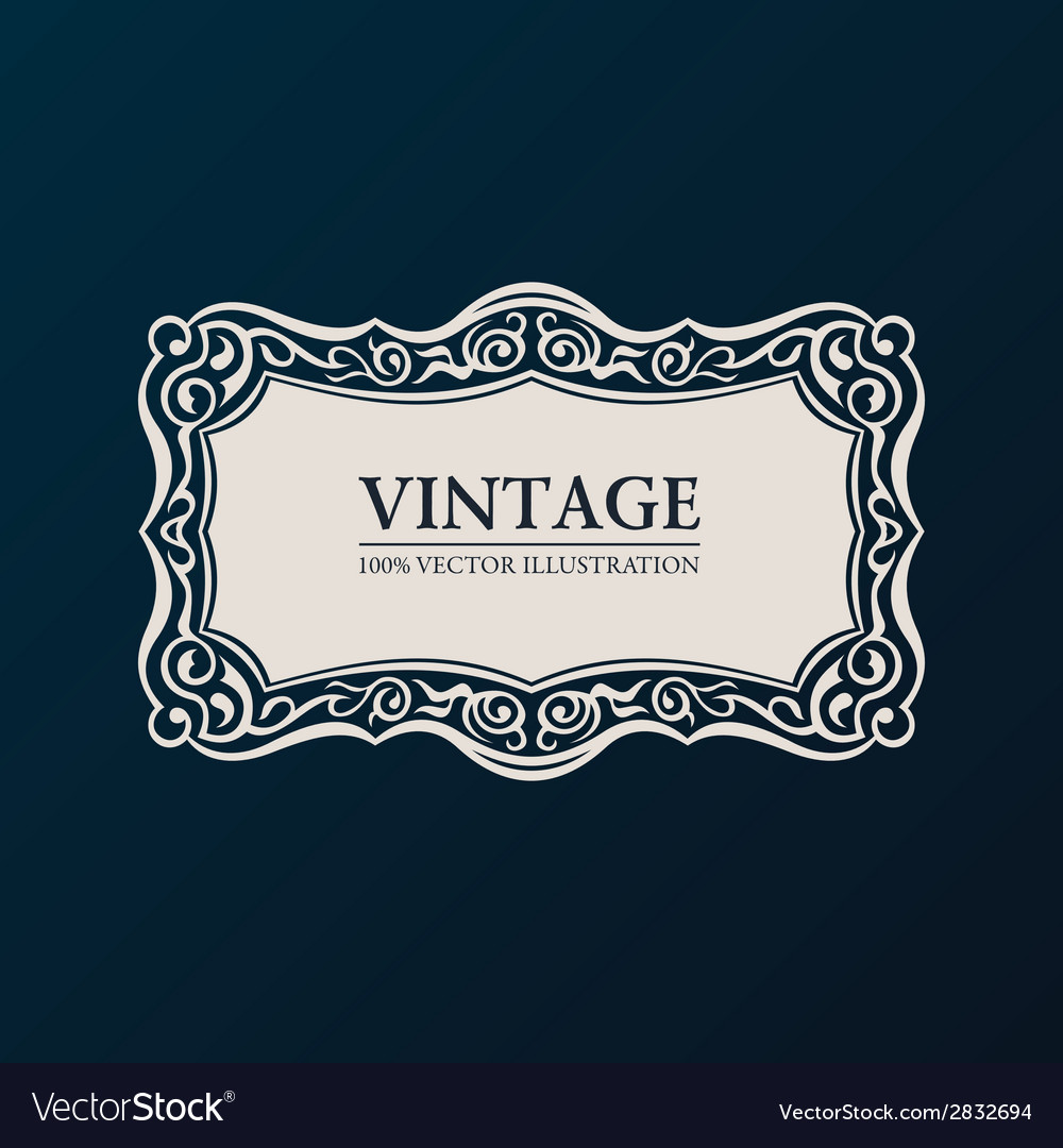 Label framework vintage banner decor vector | Price: 1 Credit (USD $1)