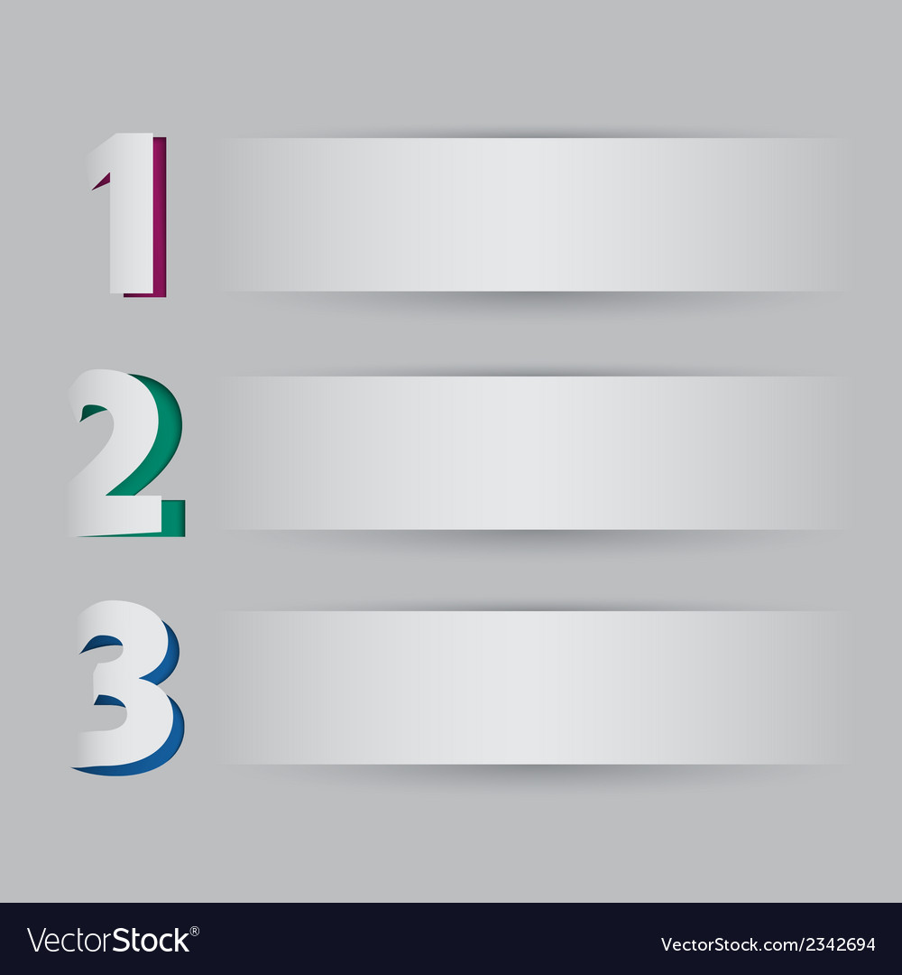 Three steps on light background vector | Price: 1 Credit (USD $1)