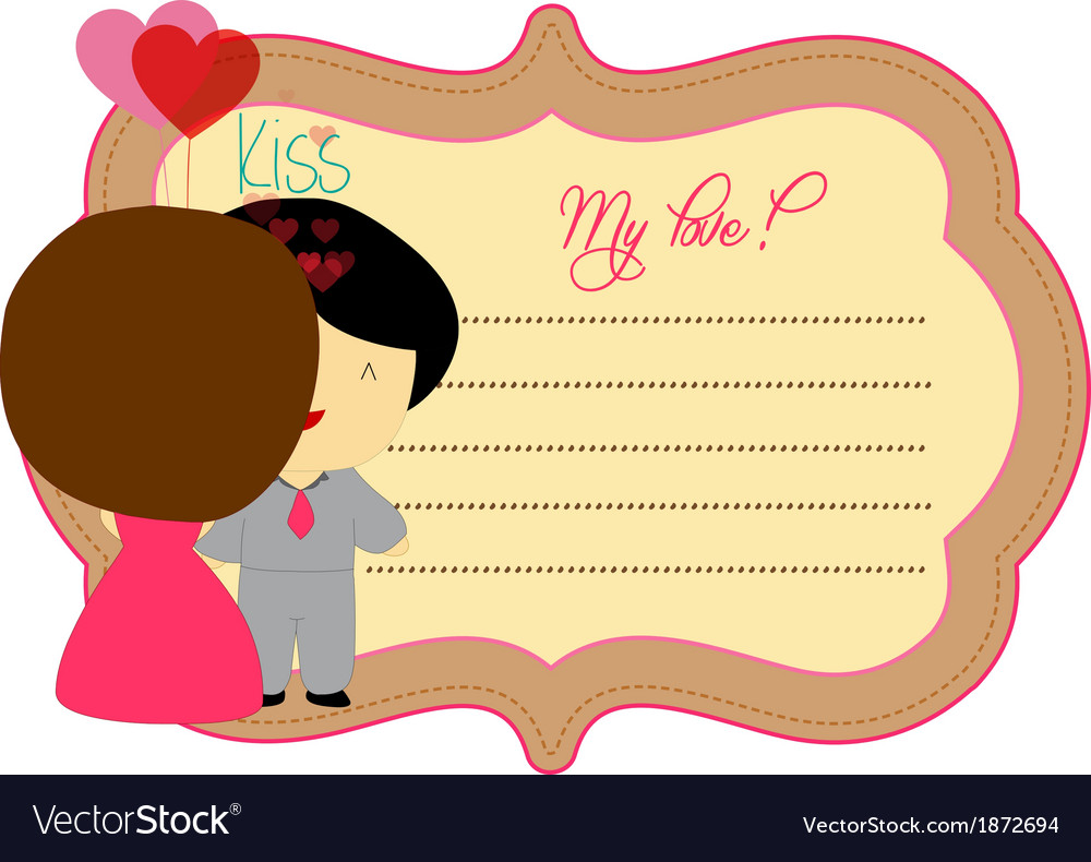 Valentines kiss you about label vector   Price: 1 Credit (USD $1)