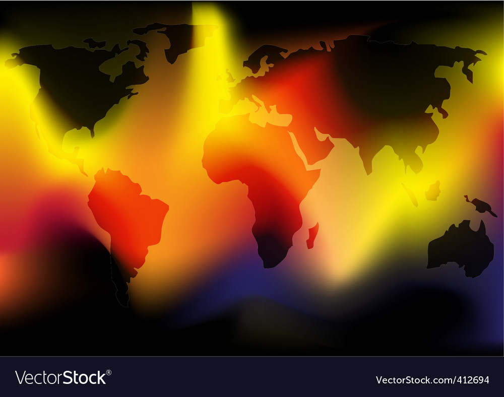 World in flames vector | Price: 1 Credit (USD $1)
