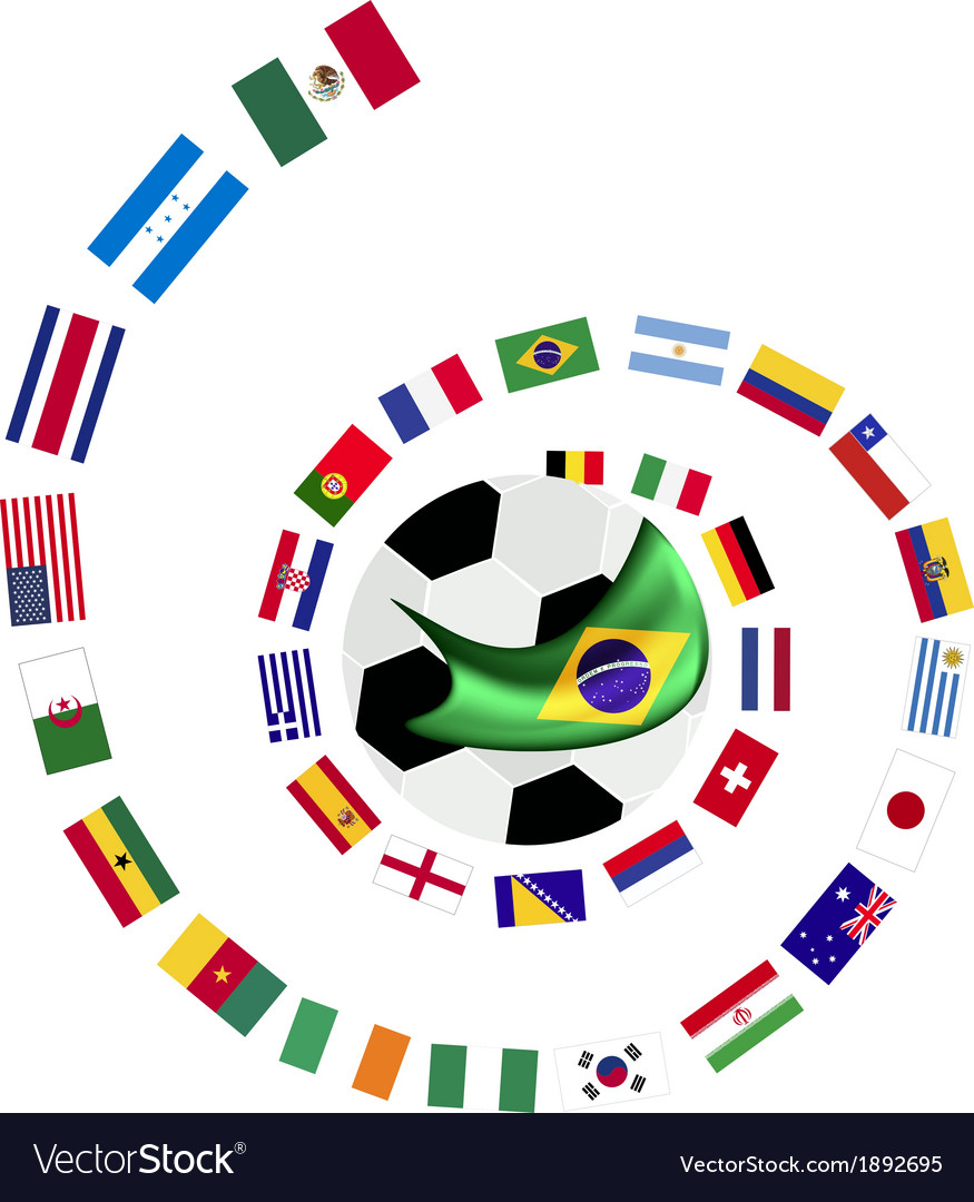 The 32 teams in the brazil 2014 vector | Price: 1 Credit (USD $1)