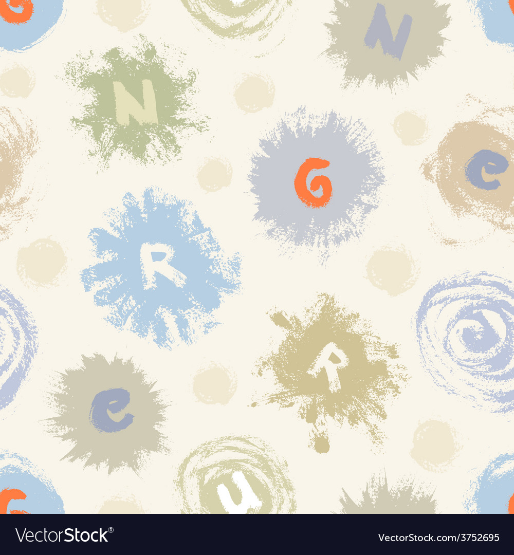 Abstract seamless pattern with paint blots vector | Price: 1 Credit (USD $1)