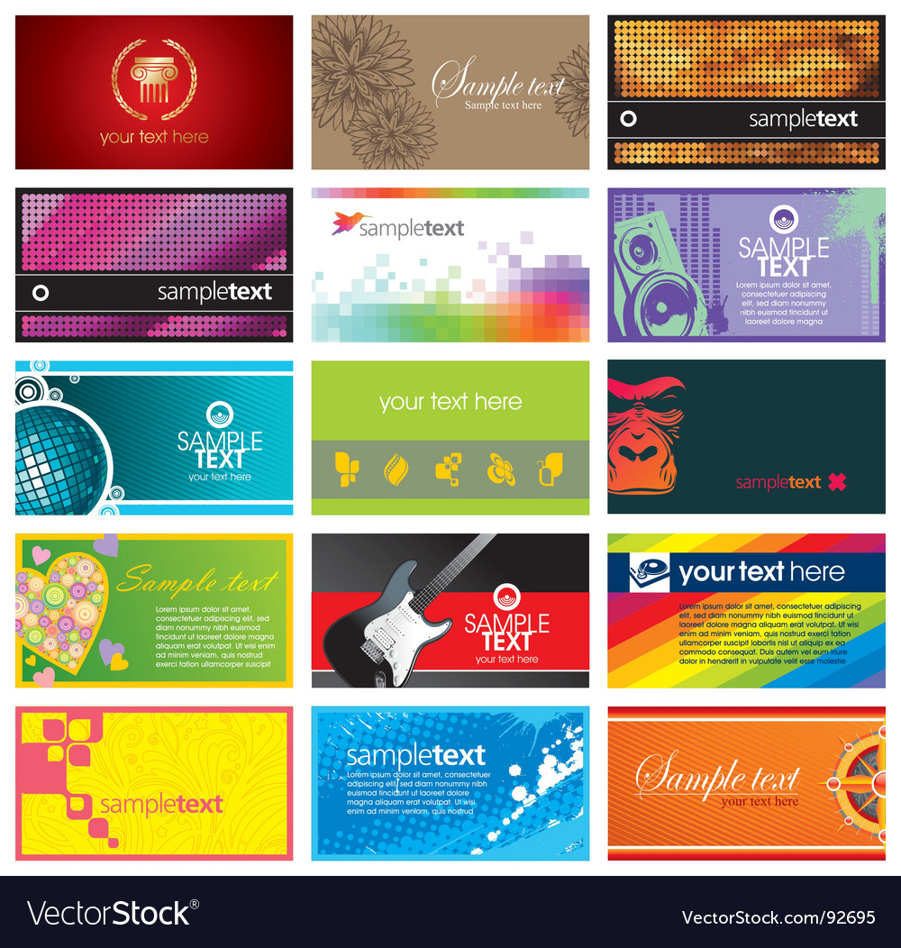 Collection of horizontal business card vector | Price: 3 Credit (USD $3)