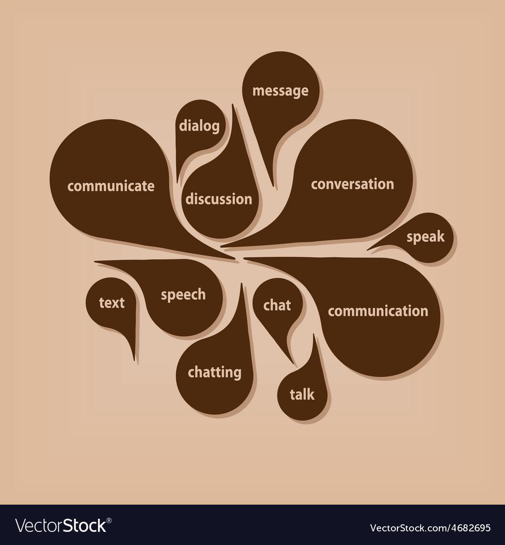 Communication bubbles vector | Price: 1 Credit (USD $1)