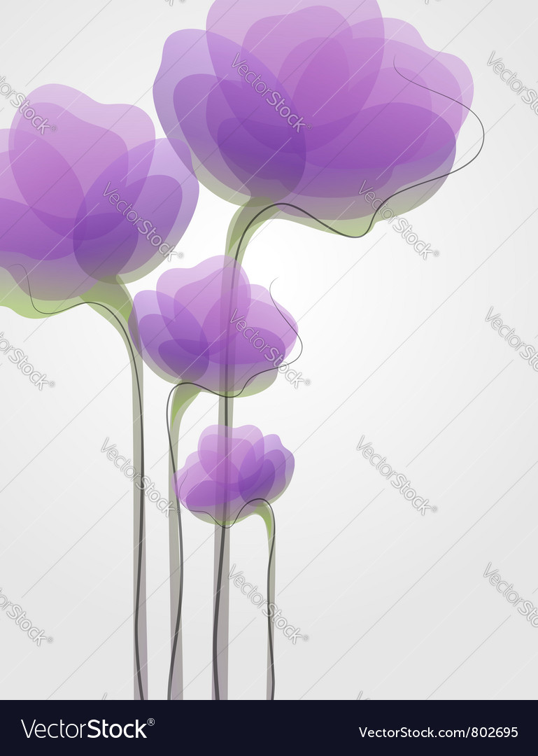 Purple flowers - elegant design vector | Price: 1 Credit (USD $1)