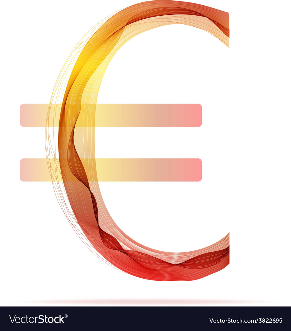 Red abstract euro sign vector | Price: 1 Credit (USD $1)