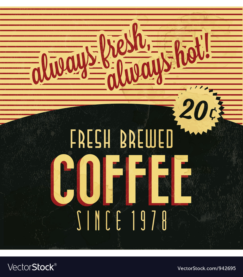 Retro vintage coffee background vector | Price: 1 Credit (USD $1)