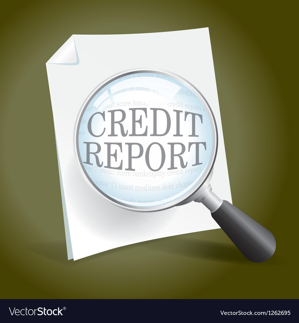 Reviewing a credit report vector | Price: 1 Credit (USD $1)