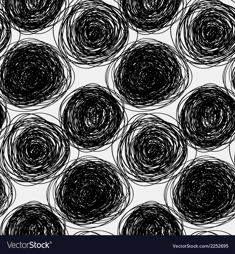 Seamless abstract scribble pattern vector | Price: 1 Credit (USD $1)