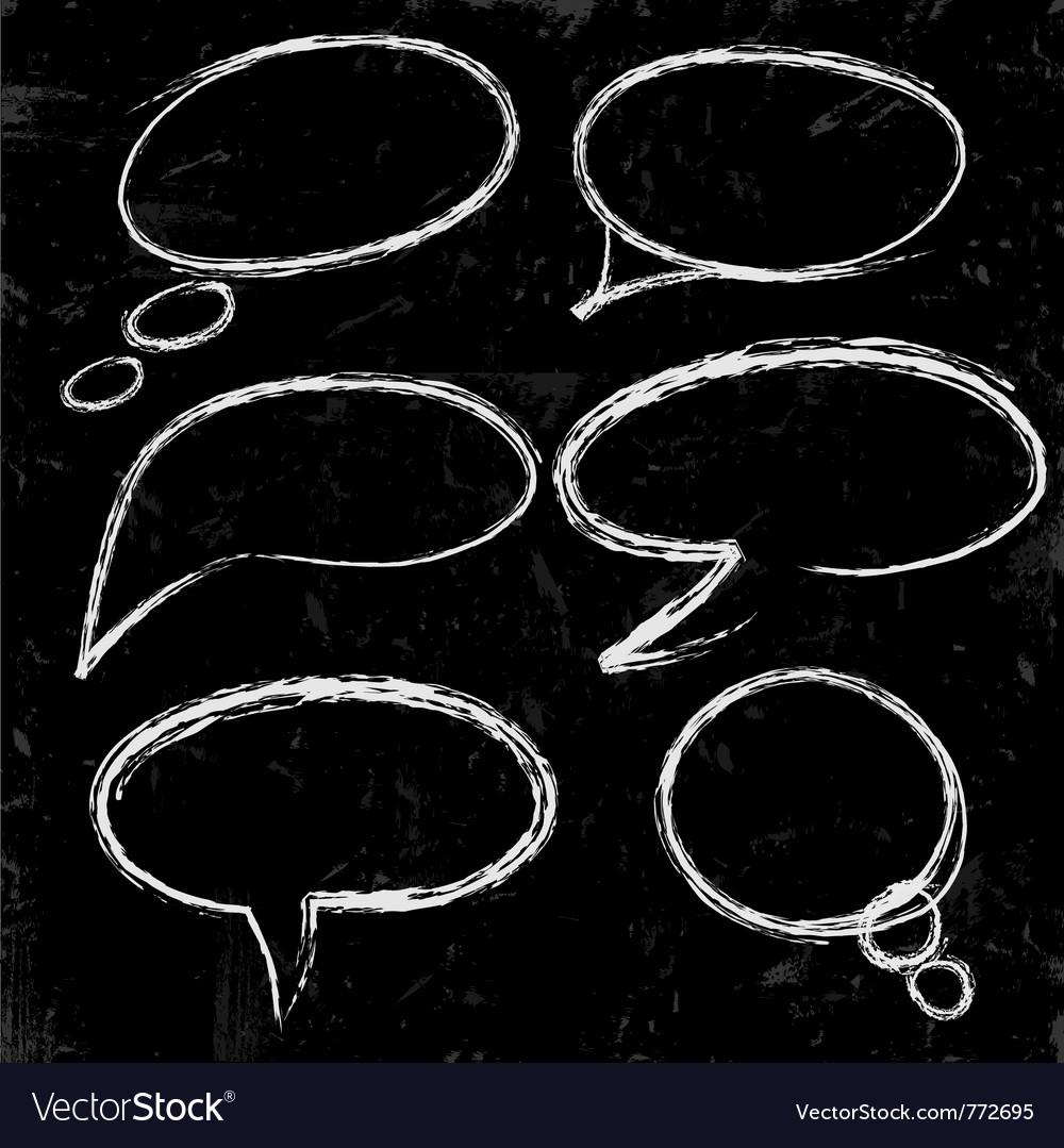 Sketch of speech bubbles vector   Price: 1 Credit (USD $1)