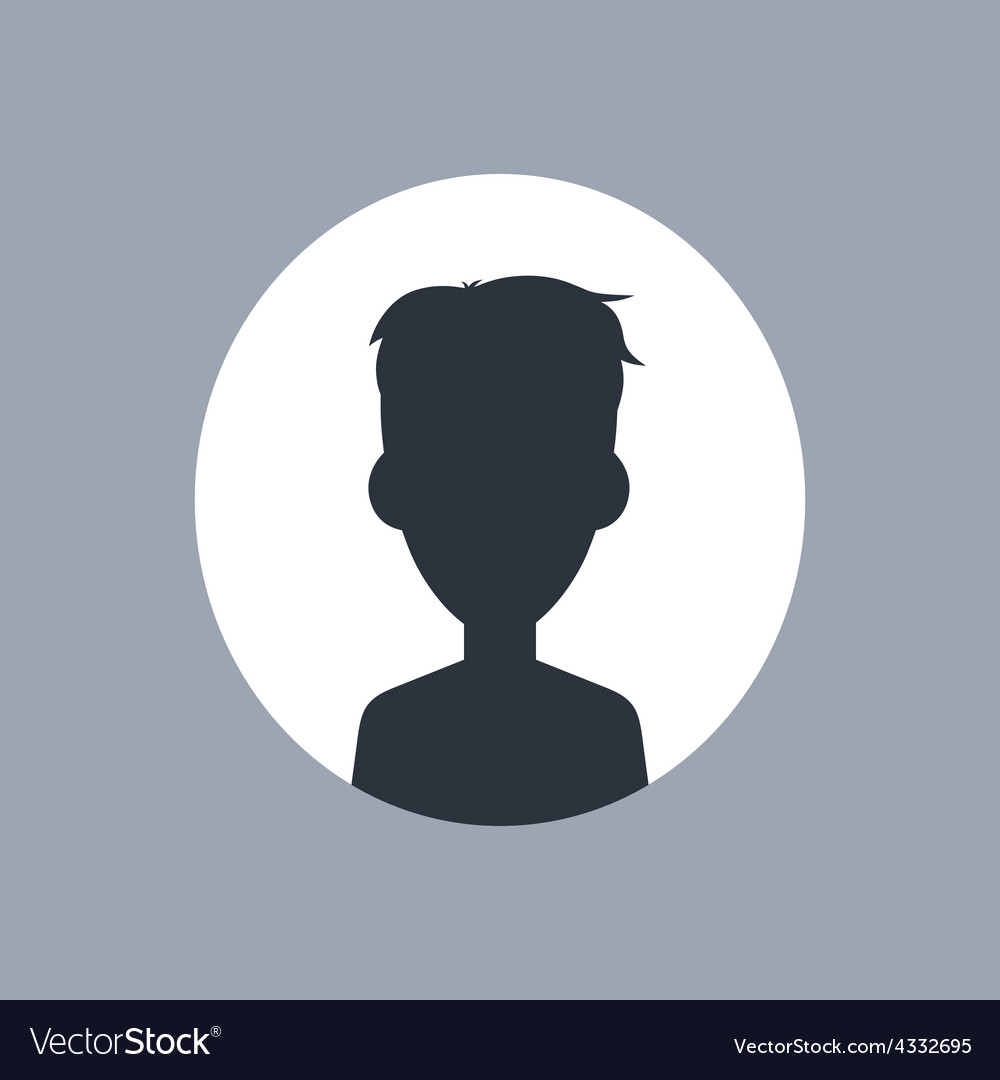 Unknown male silhouette vector | Price: 1 Credit (USD $1)