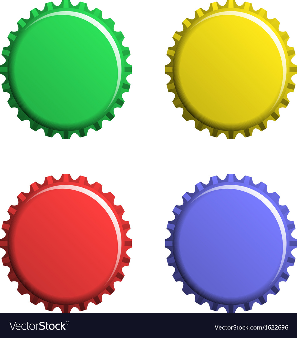 A set of bottle caps vector | Price: 1 Credit (USD $1)