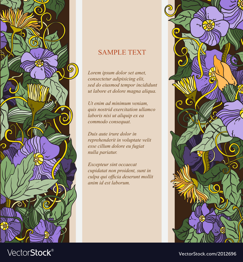 Abstract elegancefloral pattern with place for vector   Price: 1 Credit (USD $1)