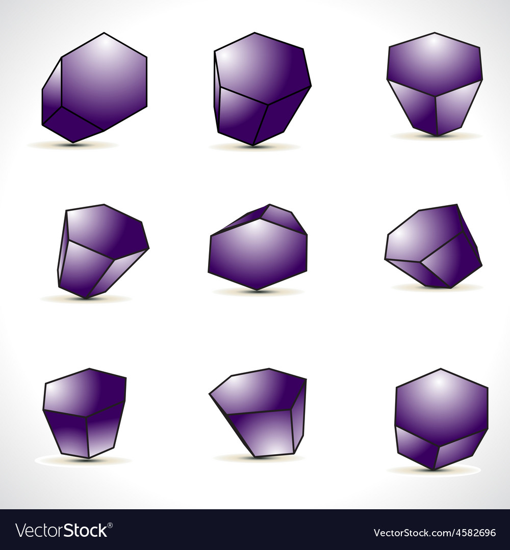 Abstract shapes design elements vector | Price: 1 Credit (USD $1)