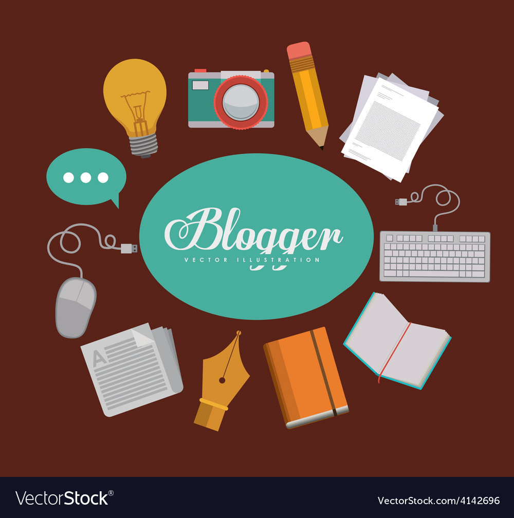 Blogger design vector | Price: 1 Credit (USD $1)