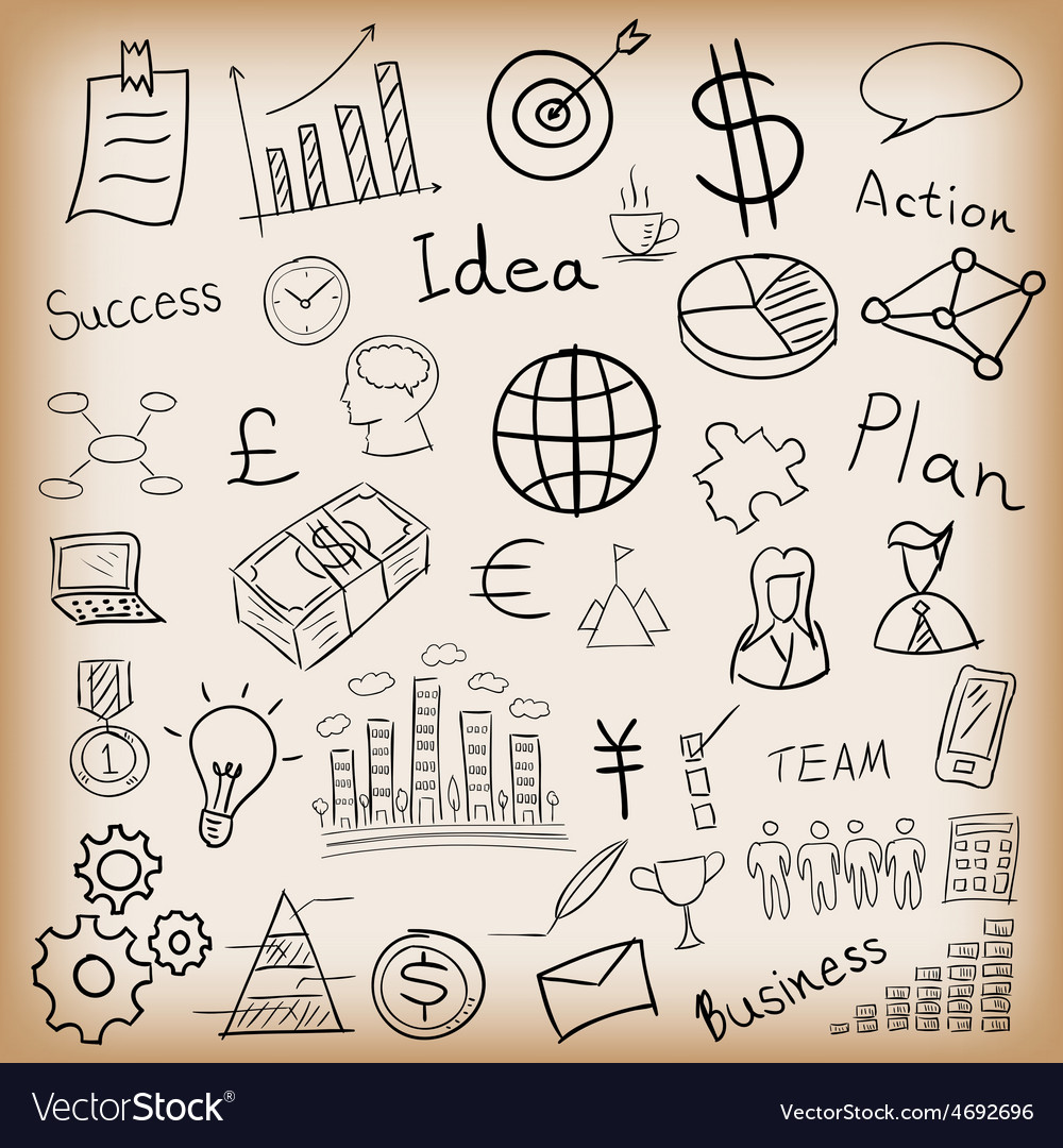 Business and finance hand drawn vector | Price: 1 Credit (USD $1)