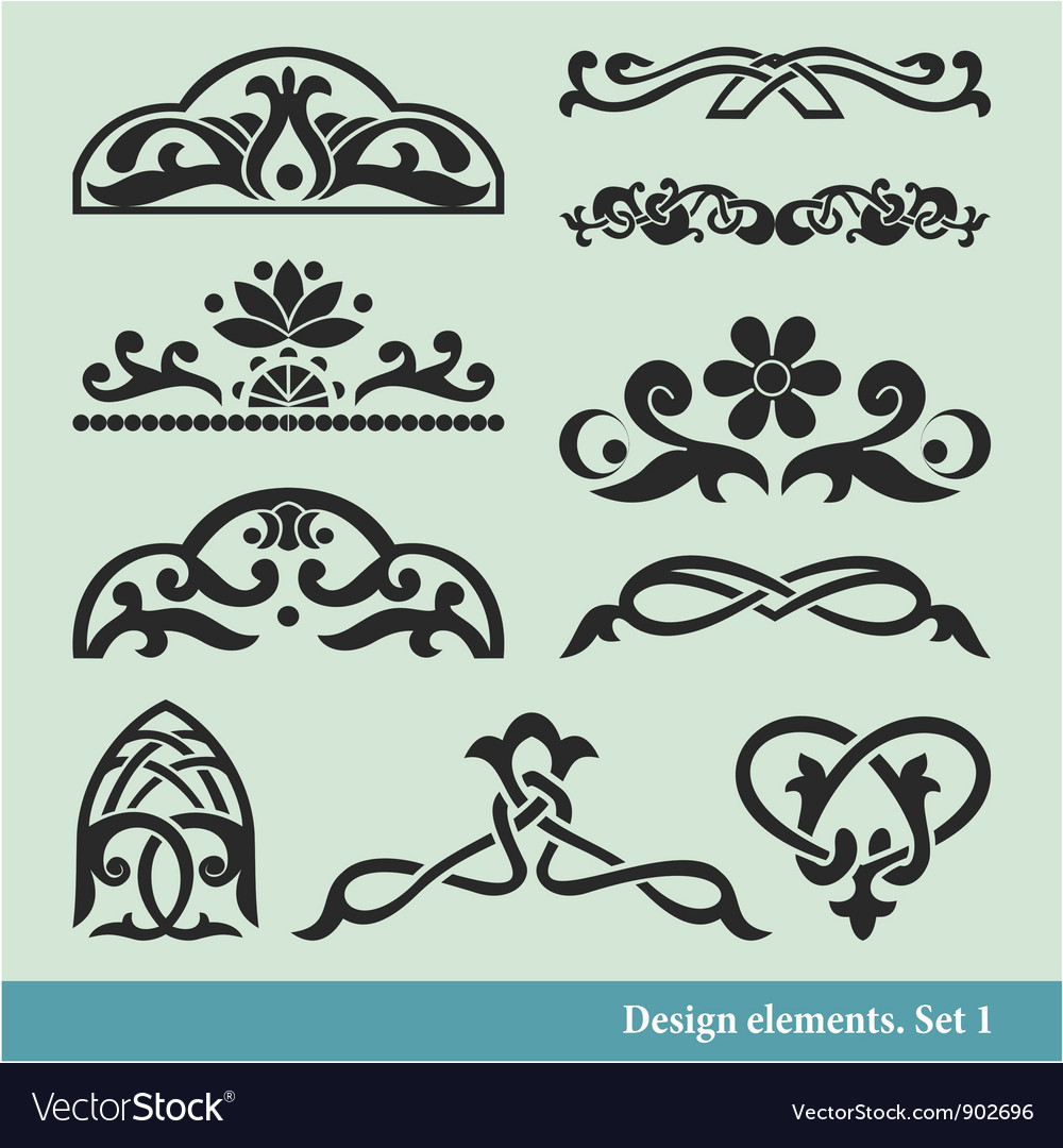 Calligraphic elements vector | Price: 1 Credit (USD $1)