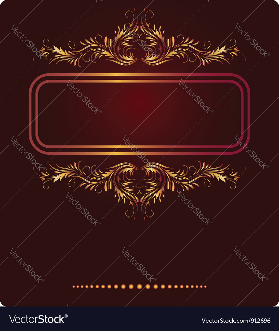 Elegant border frame vector | Price: 1 Credit (USD $1)
