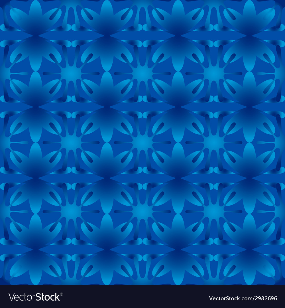 Floral pattern seamless background blue vector | Price: 1 Credit (USD $1)