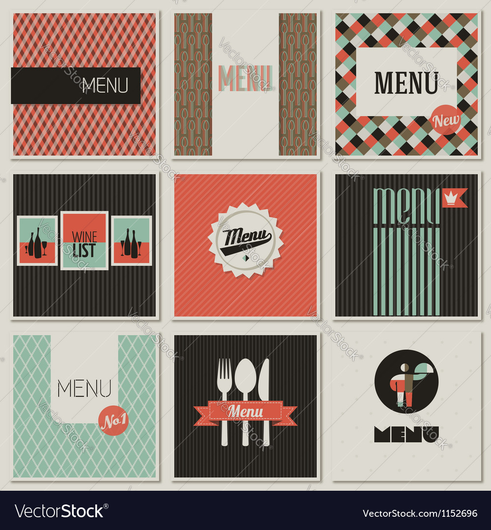 Menu label on a seamless background vector | Price: 1 Credit (USD $1)