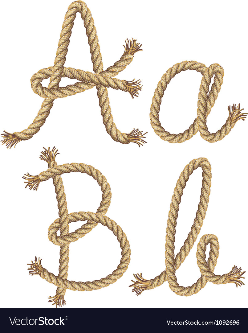 Rope alphabet vector | Price: 1 Credit (USD $1)
